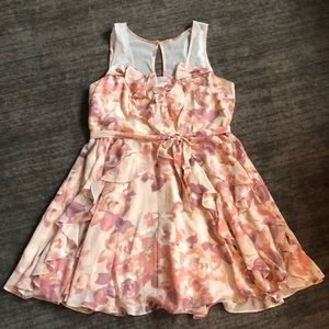 Lauren Conrad pink ruffle dress - Size 16